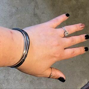 Lia Sophia Silver bangle bracelet